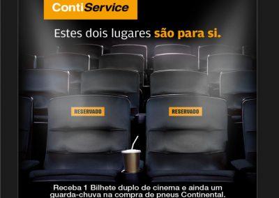 Vá ao cinema com a Continental.